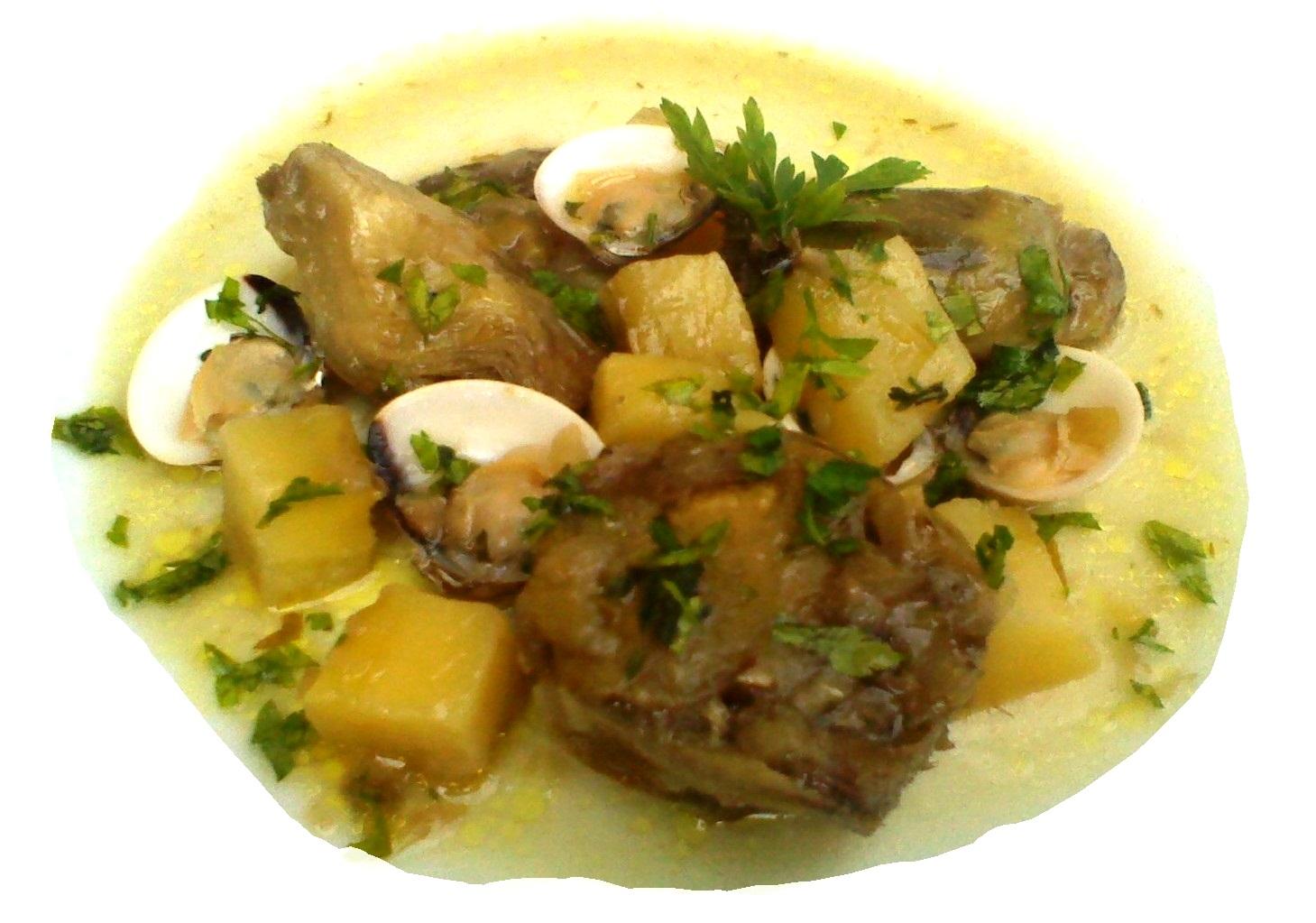 patatas guisadas con pescado: