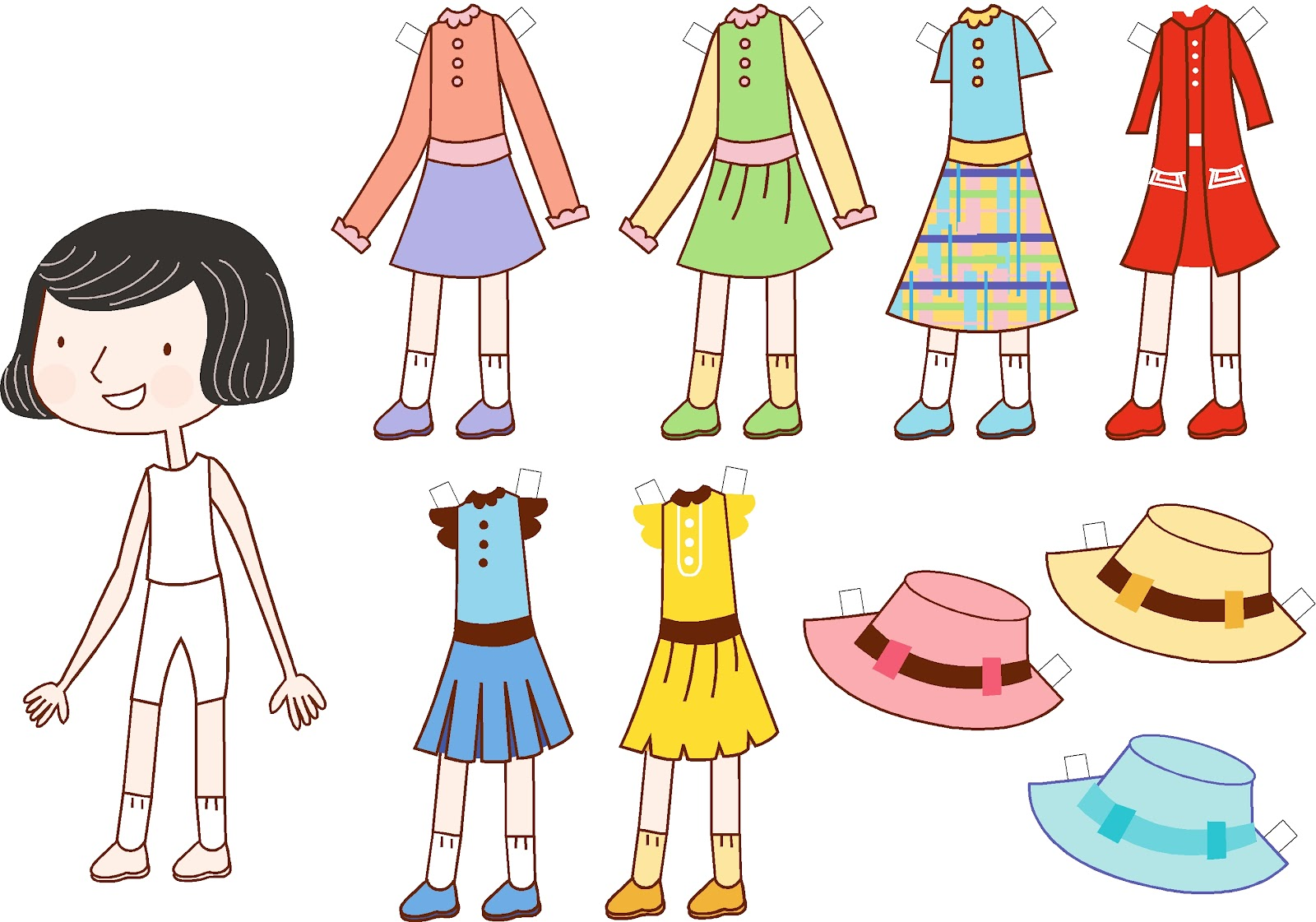 This is a picture of Adaptable Downloadable Paper Dolls