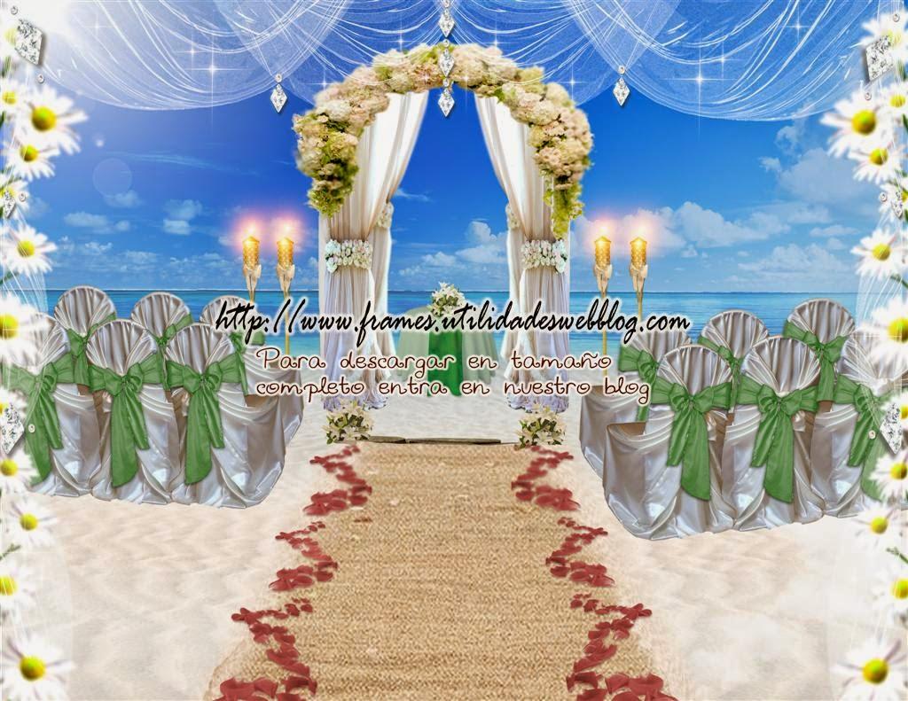 fondo para hacer fotomontajes de bodas en la playa