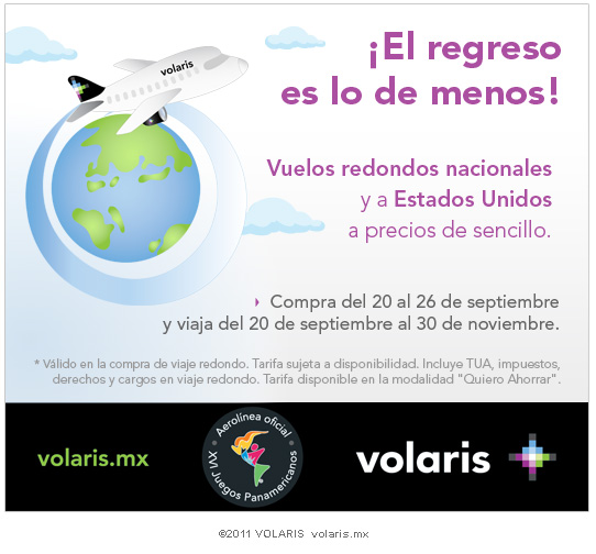 cupon pasaje avion volaris mexico