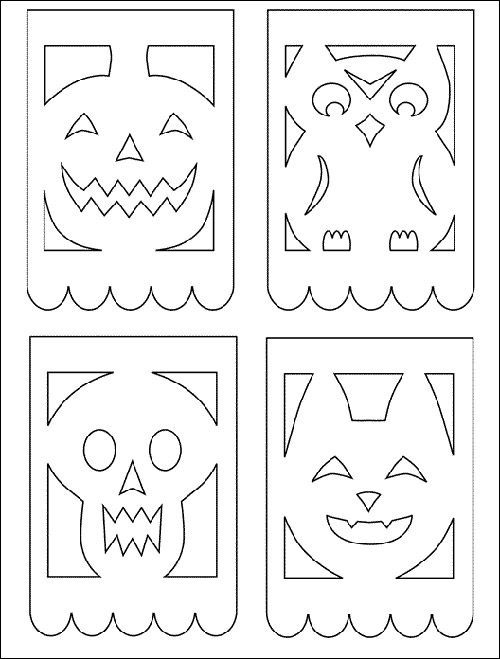 Papel picado patterns halloween google image result for 2 for Papel picado template for kids