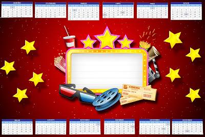 Calendários coloridos 2014