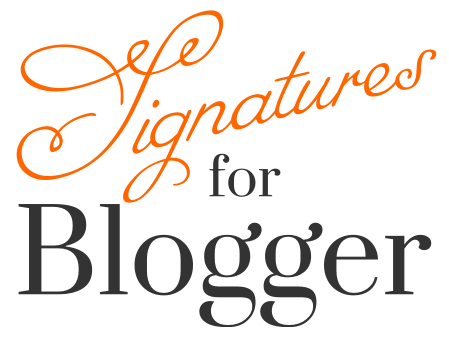 Signatures for Blogger
