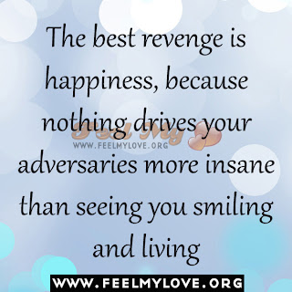 The best revenge is happiness