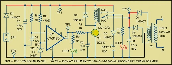 simple hybrid solar charger circuit diagram expert circuits rh expertcircuits blogspot com Schematic Circuit Diagram 3-Way Switch Wiring Diagram