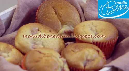 Muffin al cioccolato bianco ricetta Benedetta Parodi