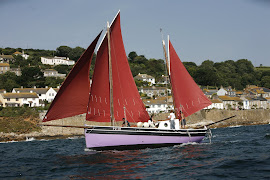 Marcus' 32 ft Lugger' Veracity' which he built in 2003 is now for sale  for £65000