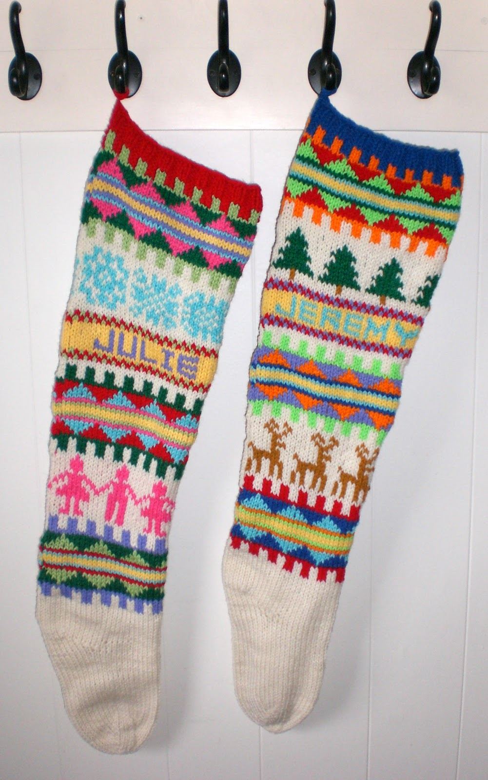 Knit Christmas Stockings Patterns : Ranger 911: Free Scandinavian Knitting Pattern