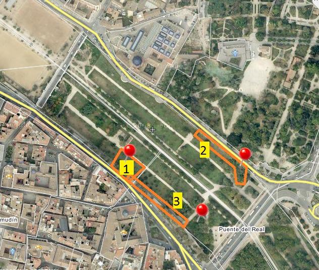 Mapa cruising del cauce del rió (Valencia)