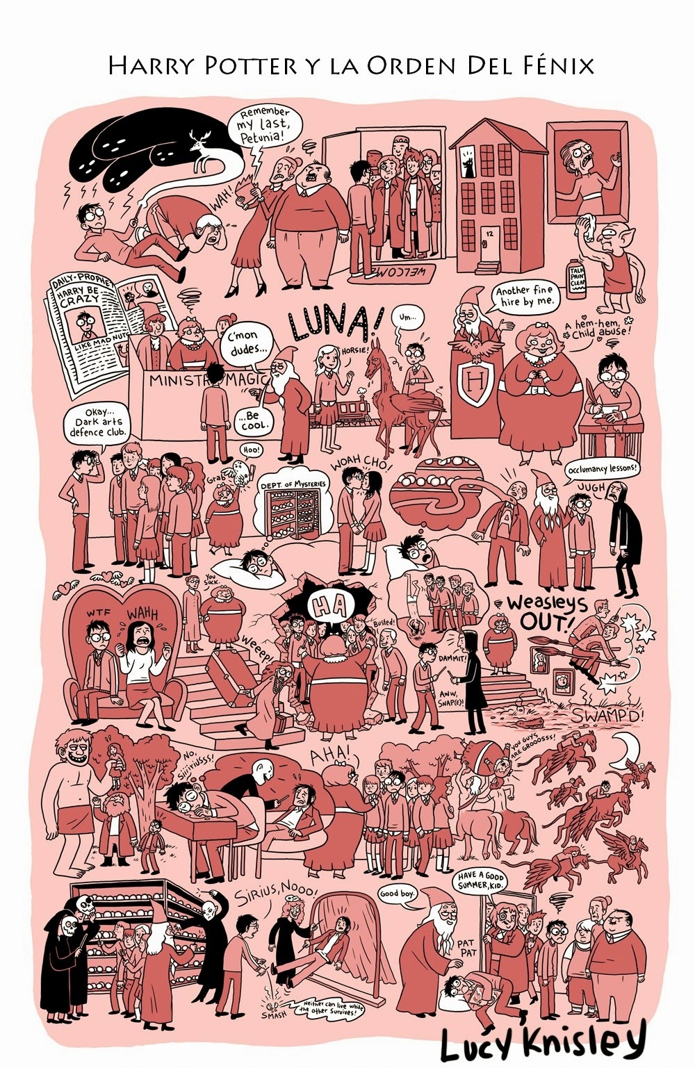 viñeta resumen - Harry Potter y la orden del fénix