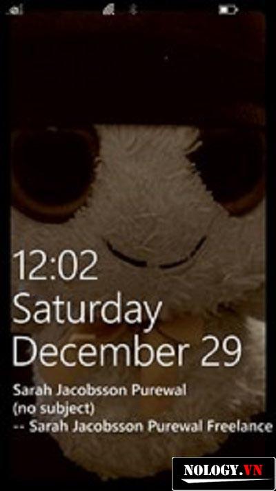 màn hình khóa của nokia lumia 520