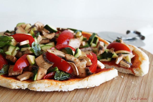 pizza crudité