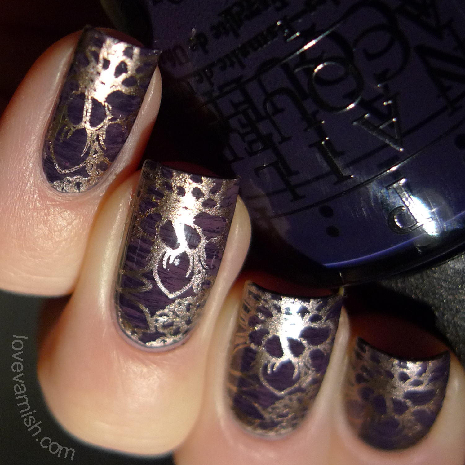Whisked away nailart using OPI Miss Universe shades