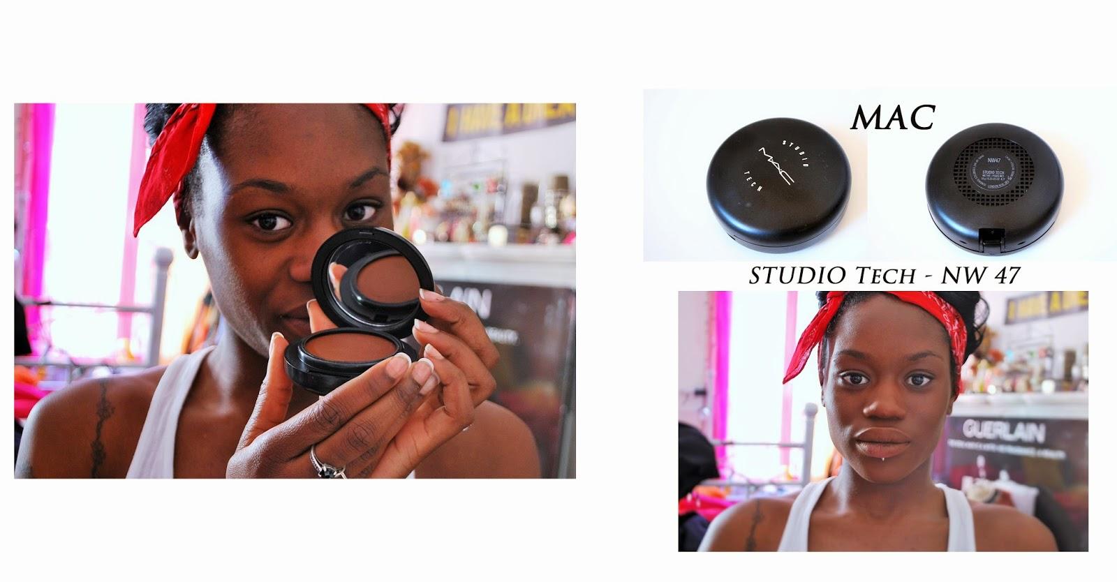 fond de teint, MAC, studio tech, NW47, maquillage peau noire