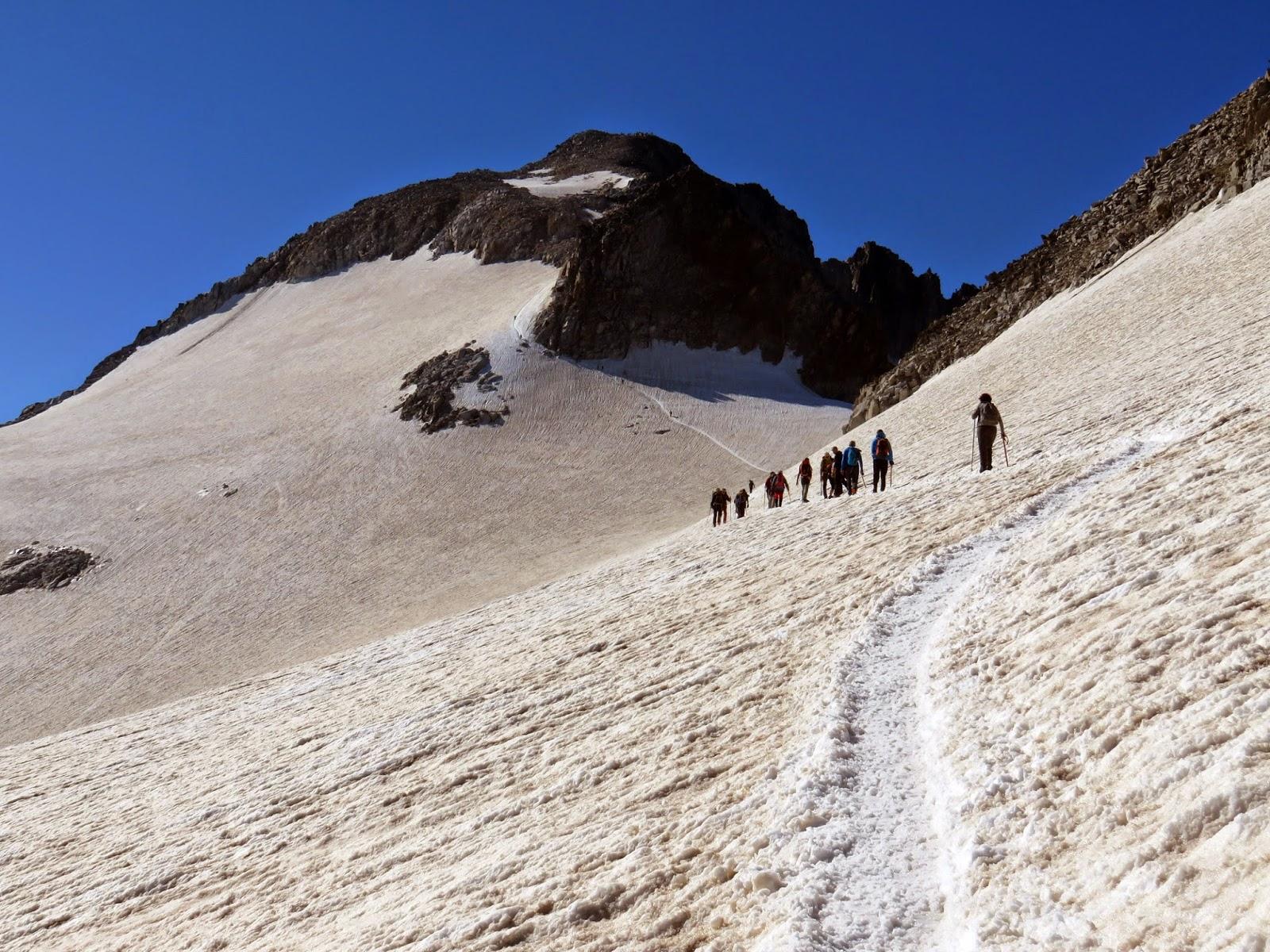 Glaciar del Aneto y Collado de Coronas