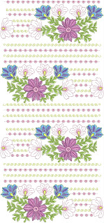 Beautiful Floral Embroidery Design Home Use