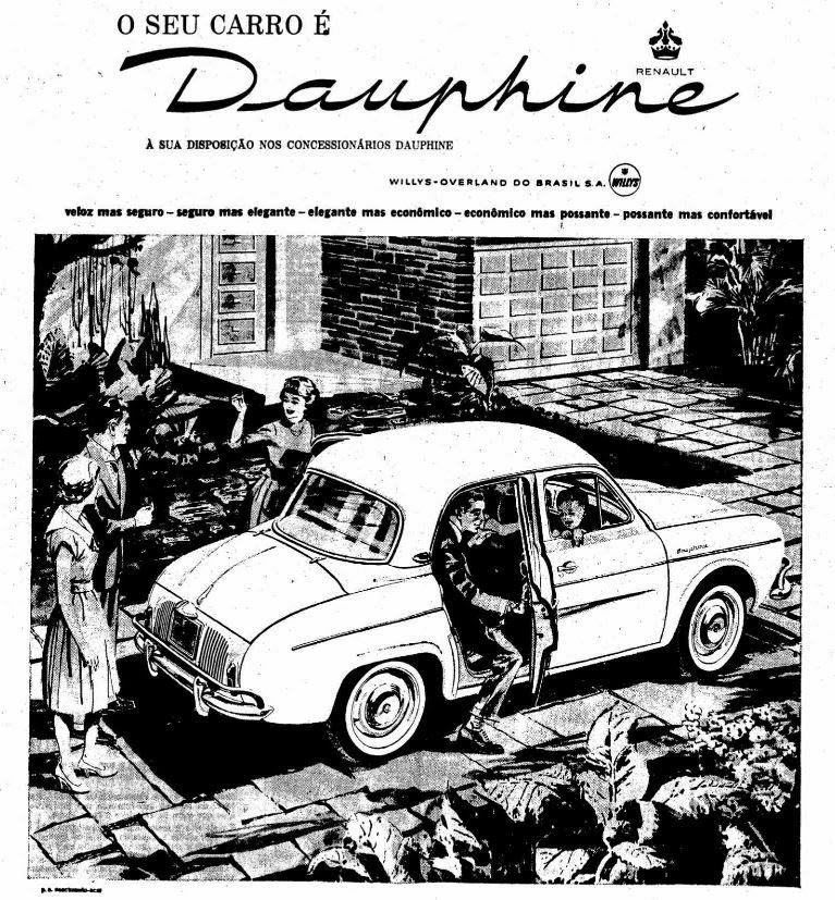 Modelo de carro era anunciado como símbolo do 'refinamento da elegância francesa'.