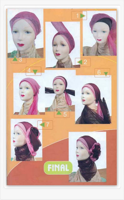 cara memakai jilbab rabbani