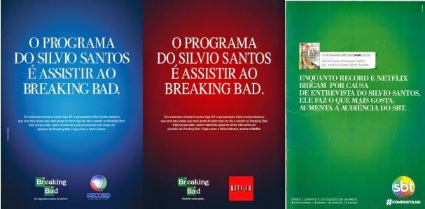 Propaganda da Netflix pegando carona na recomendação do Sílvio Santos ao serviço.