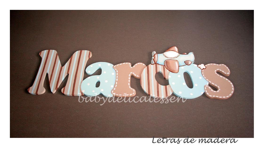 BABY DELICATESSEN LETRAS DE MADERA: MARCOS