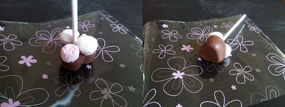 Hot chocolate stick, chocolate, marshmallow