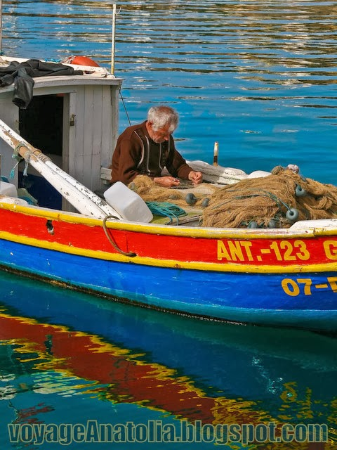 Fisherman at Antalya Marina by voyageAnatolia.blogspot.com