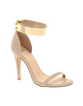 Gold Ankle Plate ASOS heels gold stud ankle zip