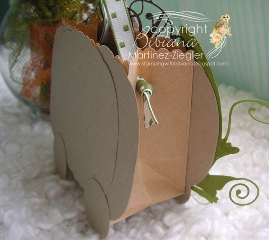 carriage lavinia fall side gift bag