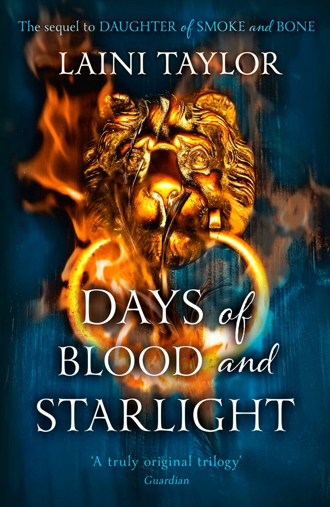 UK cover of Days of Blood and Starlight by Laini Taylor
