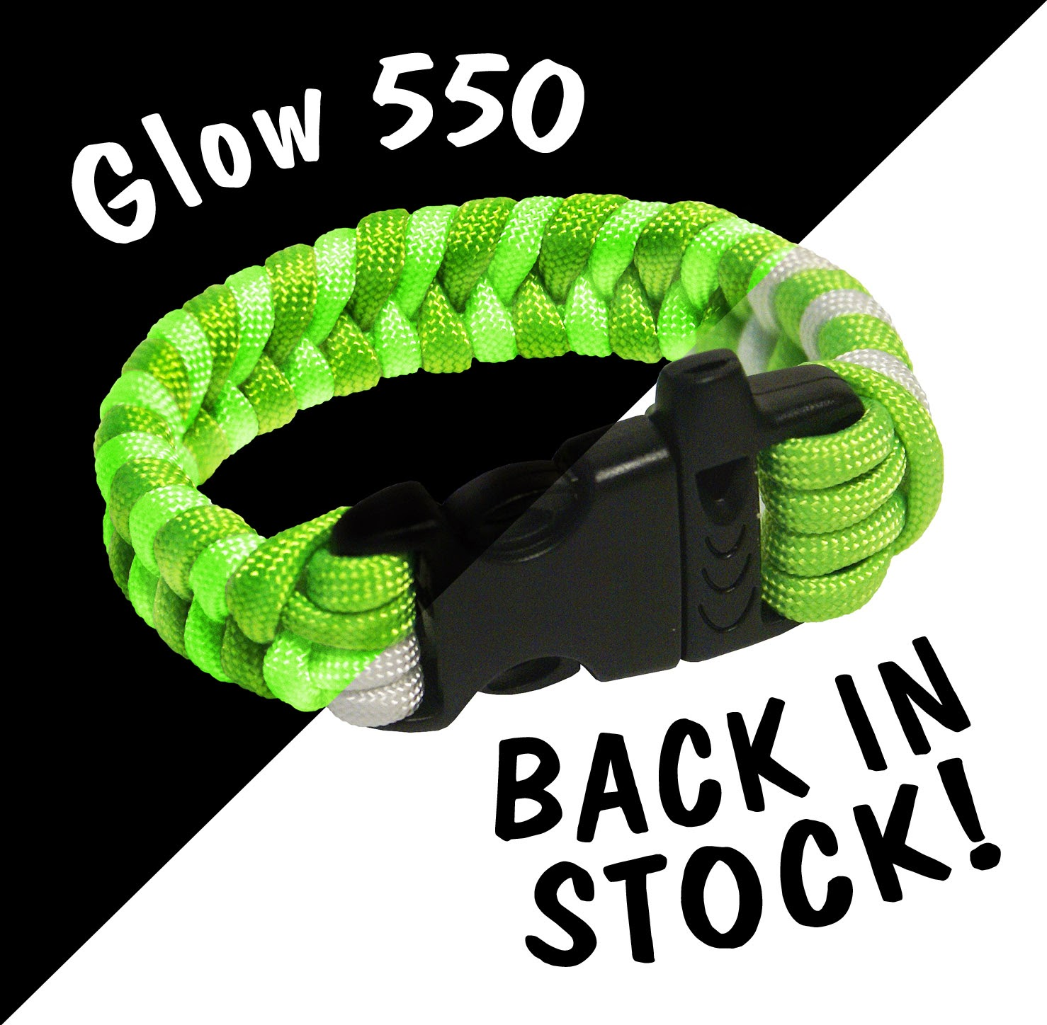 Glow-in-the-Dark Parachute Cord back in stock!