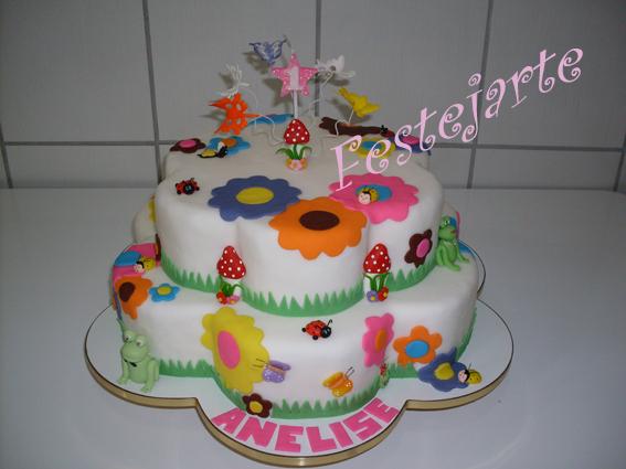 Este bolo foi feito para o 1º aniversário da minha princesa Anelise