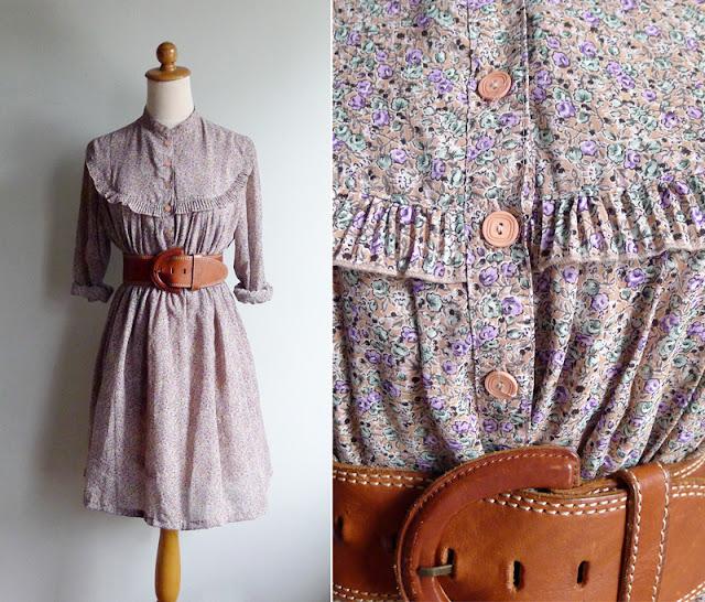 vintage prairie chic dress