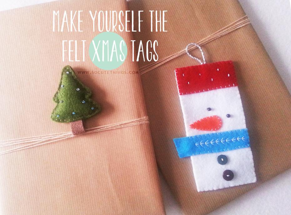 Handmade Christmas: crea il tuo Xmas tag in feltro
