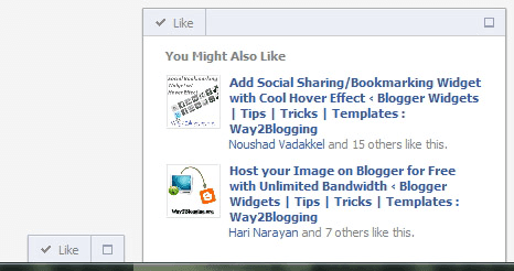 Facebook Recommendations Bar Widget for Blogger / Blogspot
