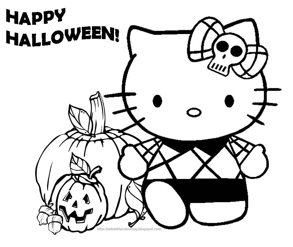 Hello Kitty Halloween Coloring Pages | Hello Kitty Forever