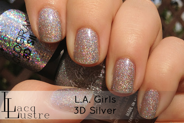 L.A. Girls 3D Silver swatch