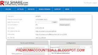 ryushare premium accounts 20 september 2012 WITH PROOF