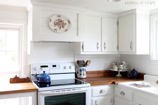 Farmhouse Range Hood ~ Keeping it cozy our farmhouse kitchen