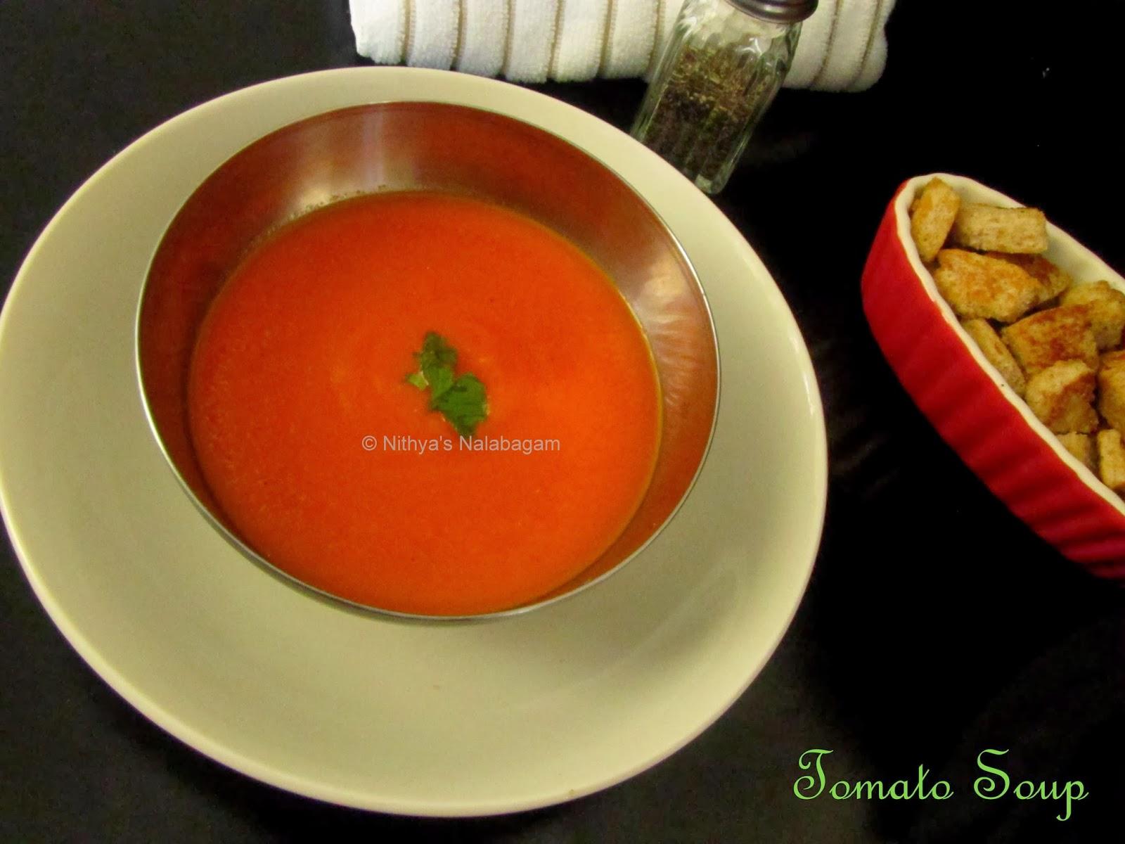 tomato soup indian style nithya 39 s nalabagam
