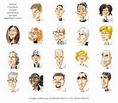 Session de caricatures numériques pour Randstad ©Guillaume Néel