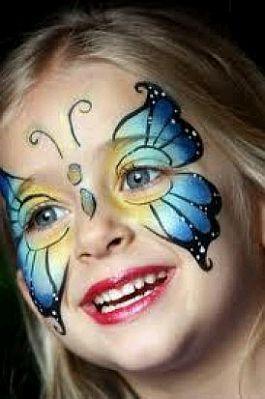 maquillaje infantil y caritas pintadas mariposas. Black Bedroom Furniture Sets. Home Design Ideas