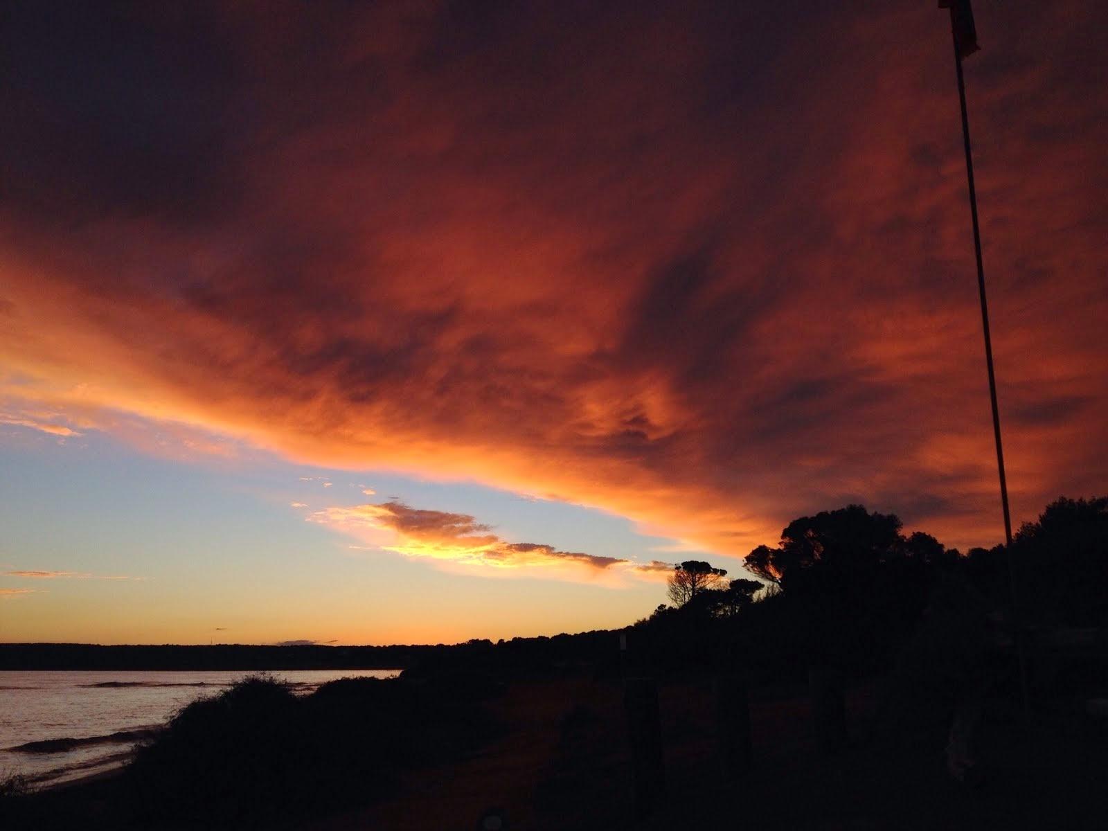 Formentera burning Sky