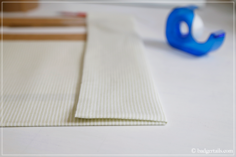 How to Frame a Tea Towel - A neat, pressed fold