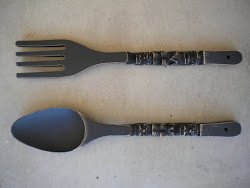 spoon and fork wall set....SOLD