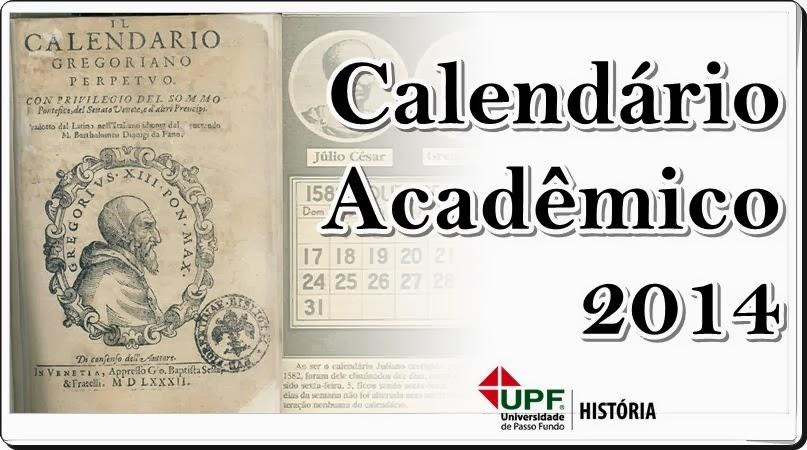 Calendário História UPF 2014