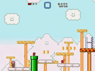 صورة من داخل لعبة Super Mario Bros X