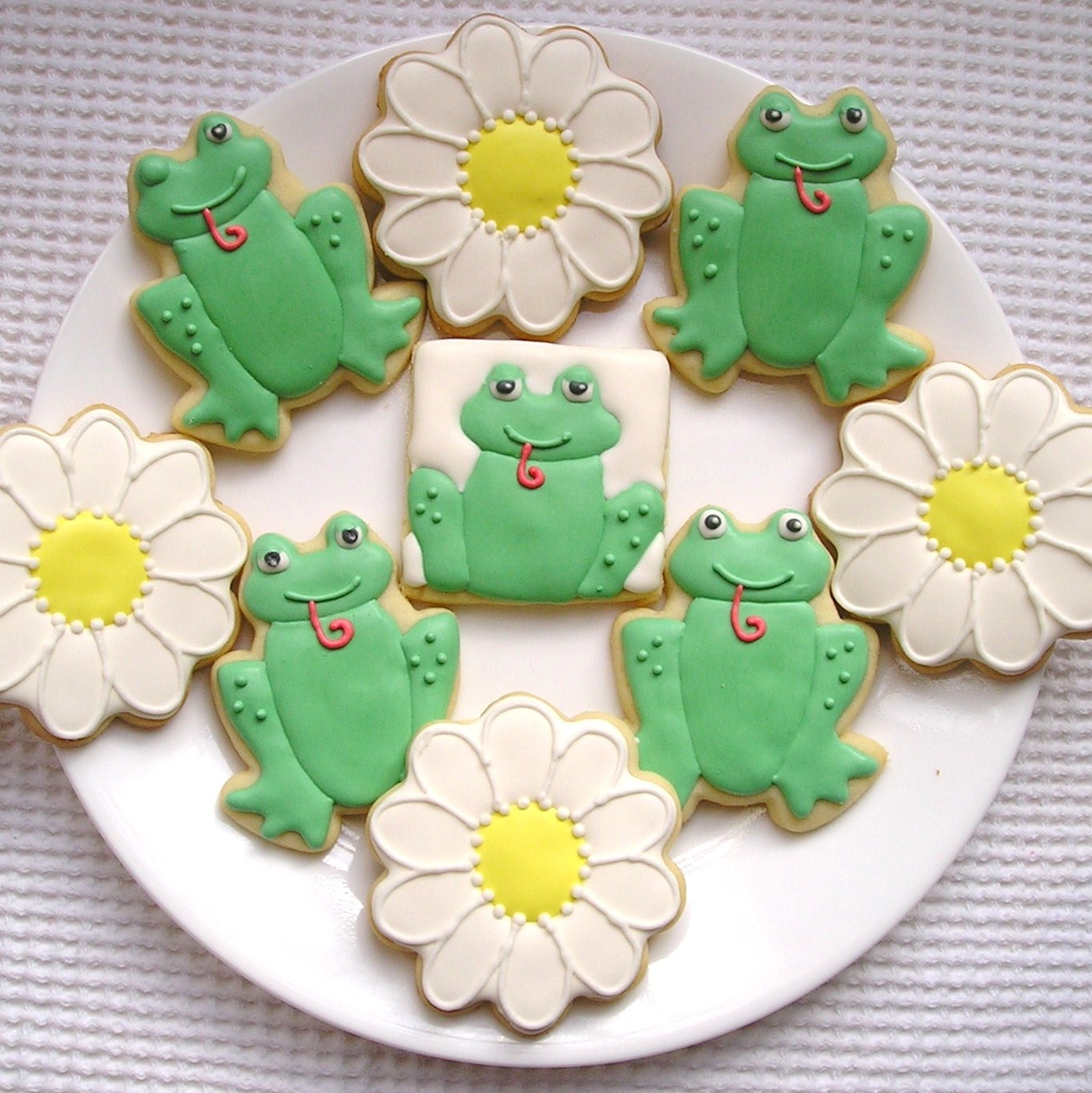 how to make icing daisies
