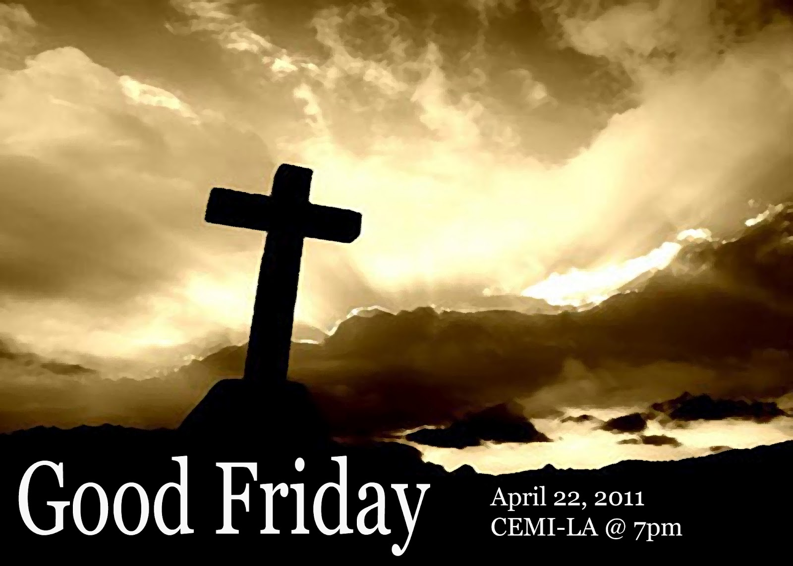 a good friday celebration Friday march 30 2018: join us for a time of remembrance and celebration of the awe-inspiring sacrifice that our lord & savior jesus made.