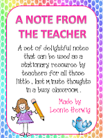 A note from the teacher-girl.