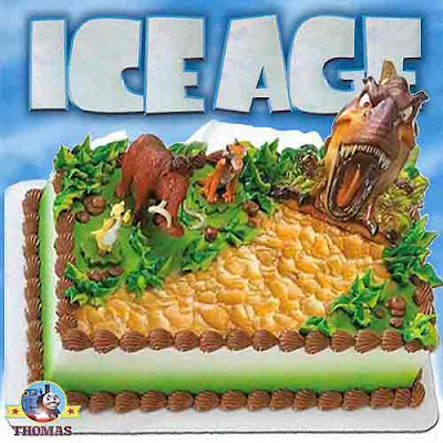 Ice Age 3 Dawn of the Dinosaurs cake topper set will generate a happy memory for your little ones